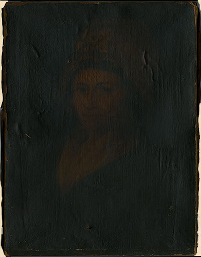 200 year old painting o ancestor shows layers of darkened varnish that would be difficult for even a person with a masters degree in conservation to remove without damaging the underlying painting